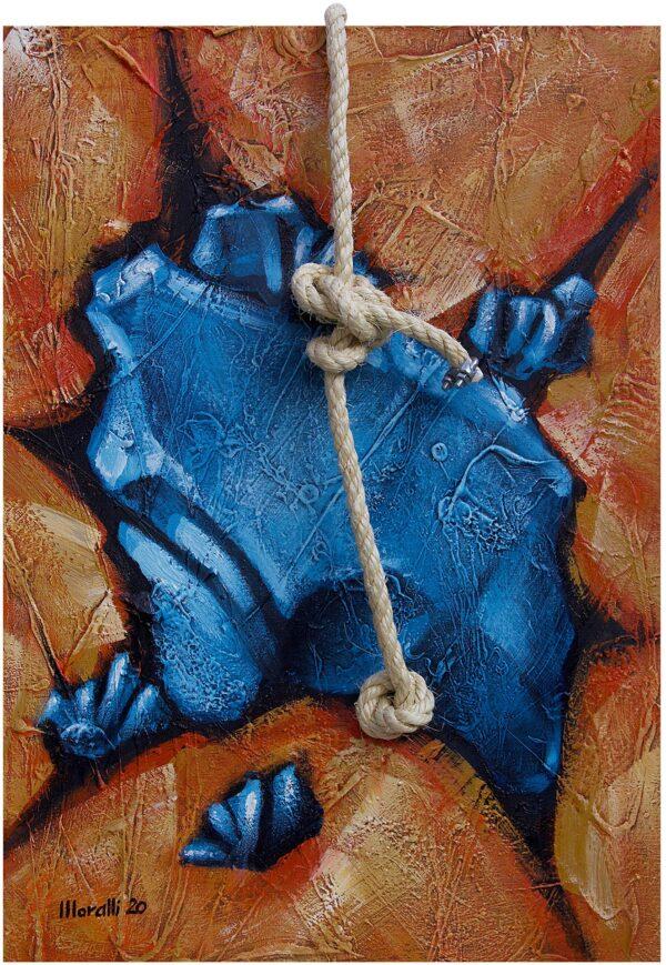 Pedra Flutuante Azul